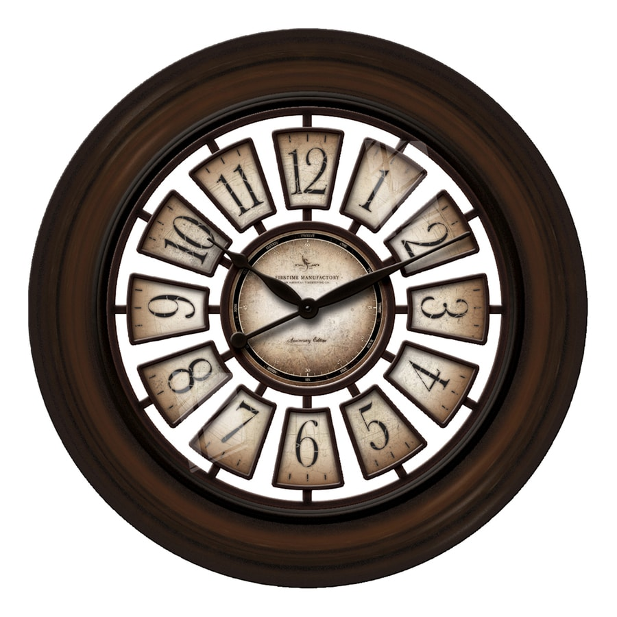 FirsTime Manufactory Majestic Hollow Analog Round Indoor Wall Standard Clock