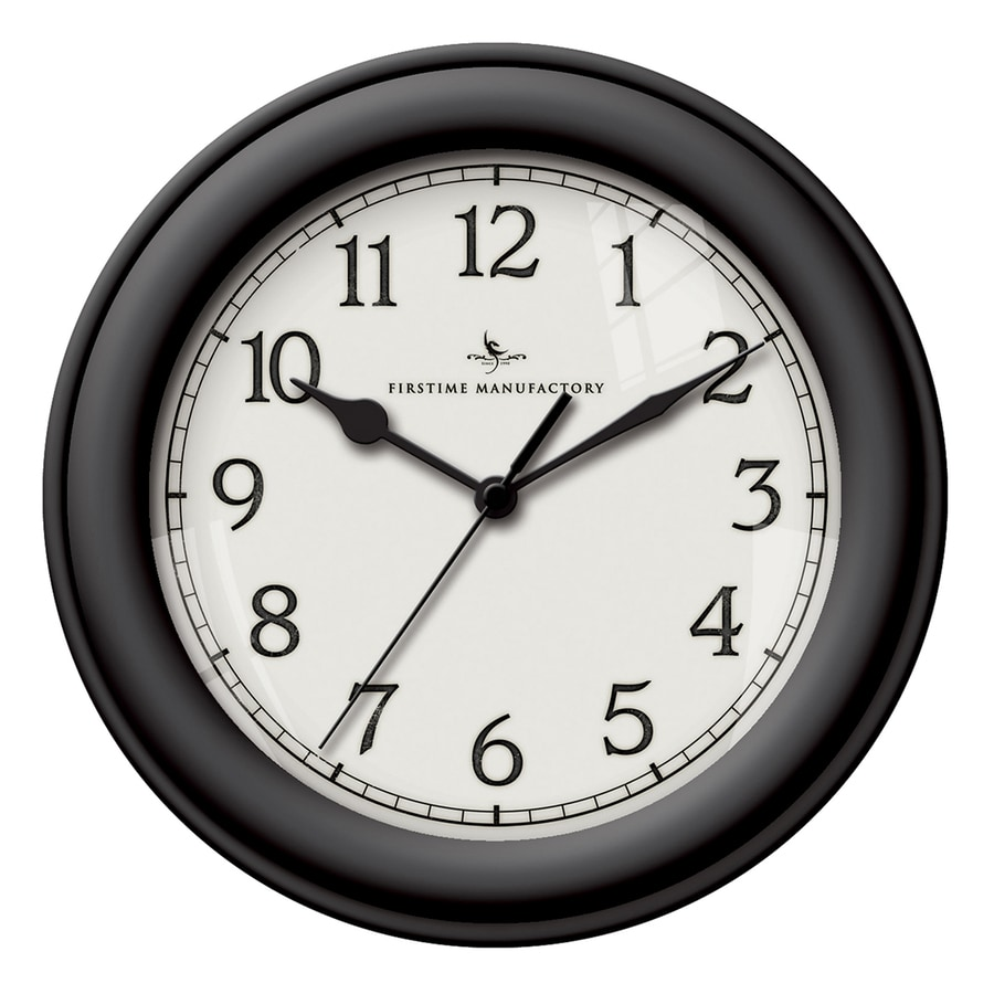 FirsTime Manufactory Essential Analog Round Indoor Wall Standard Clock