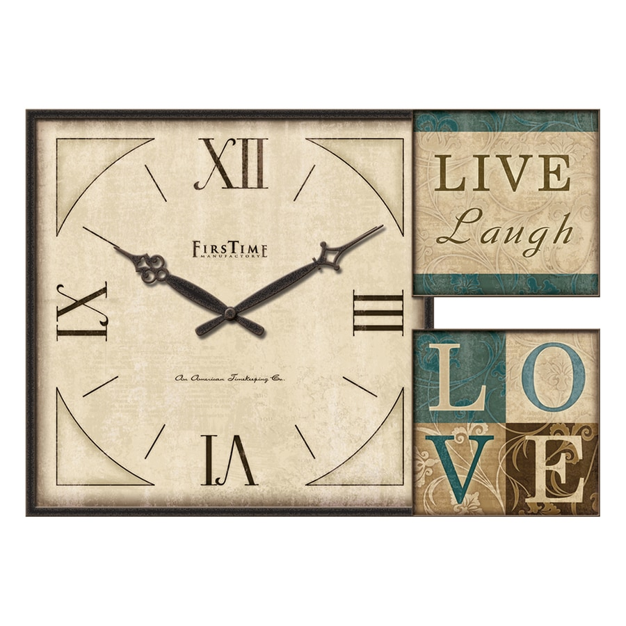 FirsTime Manufactory Love Gallery Analog Rectangular Indoor Wall Standard Clock