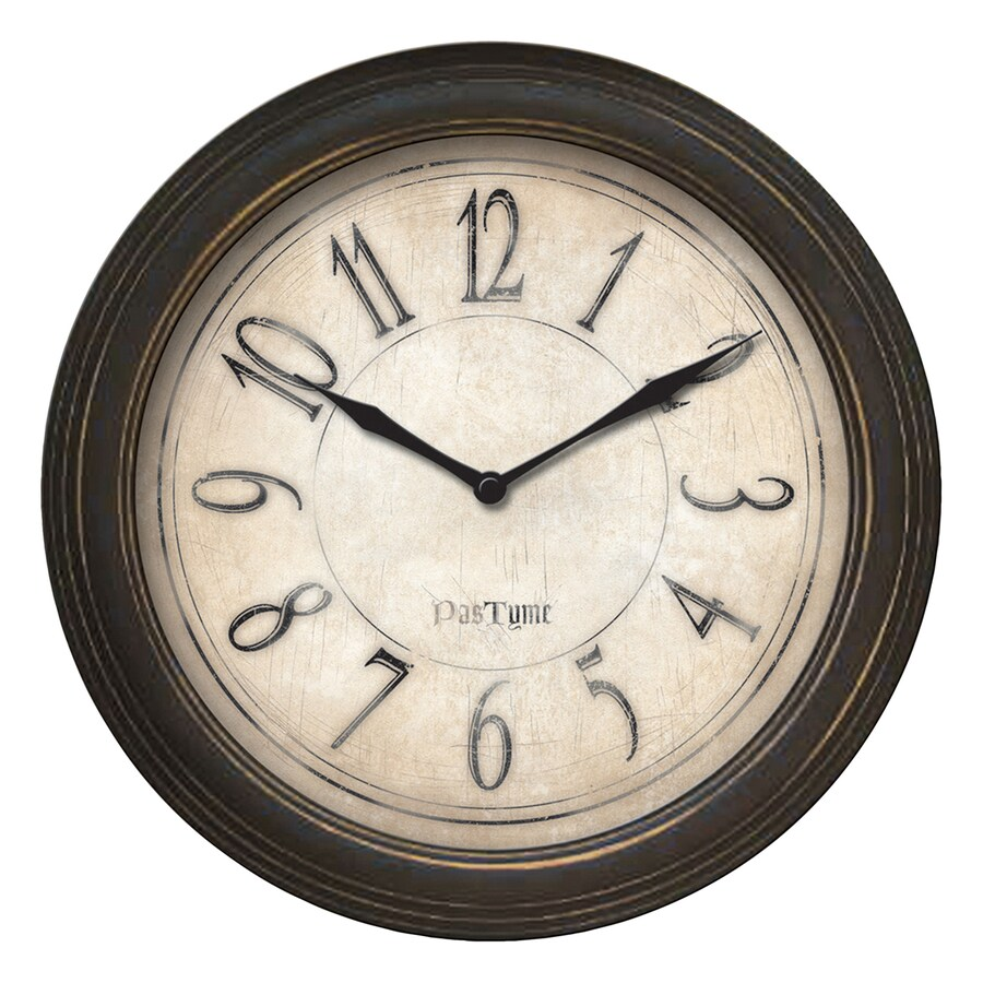 FirsTime Manufactory Distressed Analog Round Indoor Wall Standard Clock