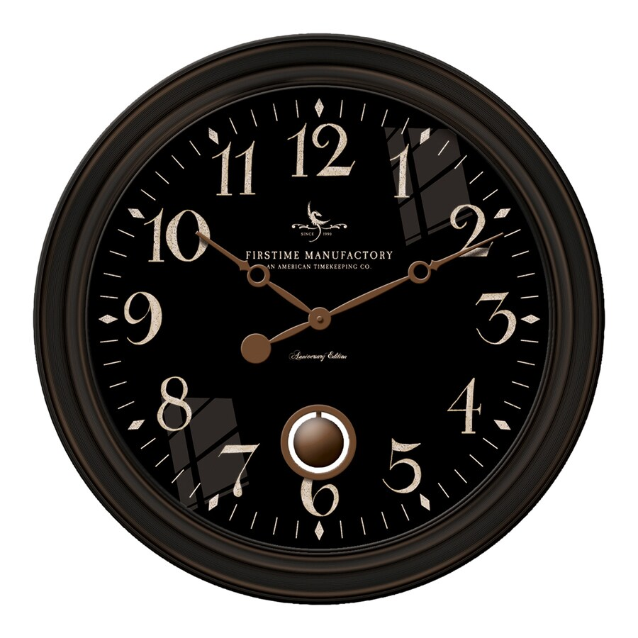 FirsTime Manufactory Varenna Analog Round Indoor Wall Standard Clock