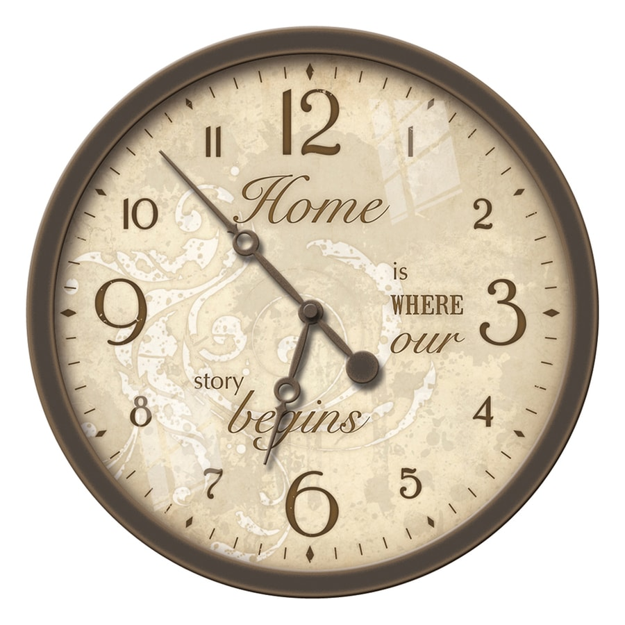FirsTime Manufactory Sentiments Analog Round Indoor Wall Standard Clock