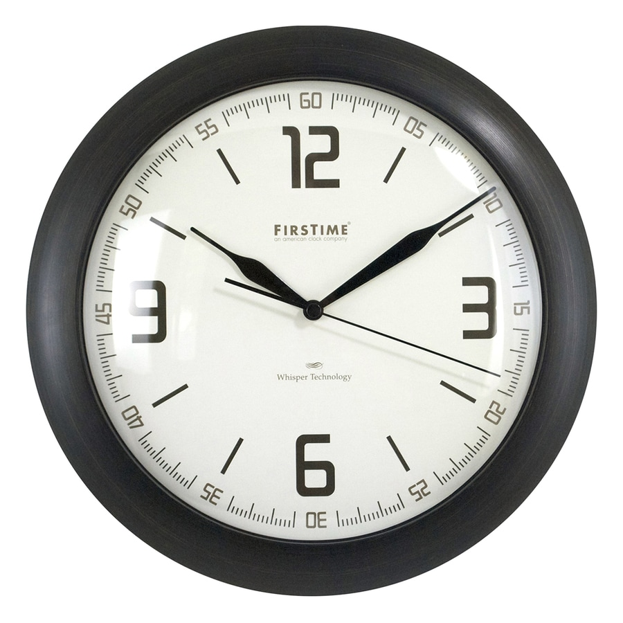 FirsTime Manufactory Linen Whisper Analog Round Indoor Wall Standard Clock