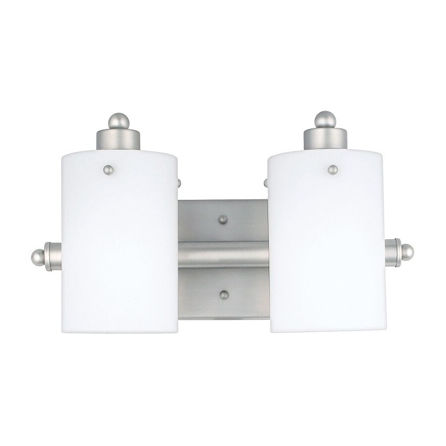 Cascadia Lighting Adano 2-Light 7.5-in Empire Silver Cylinder Vanity Light