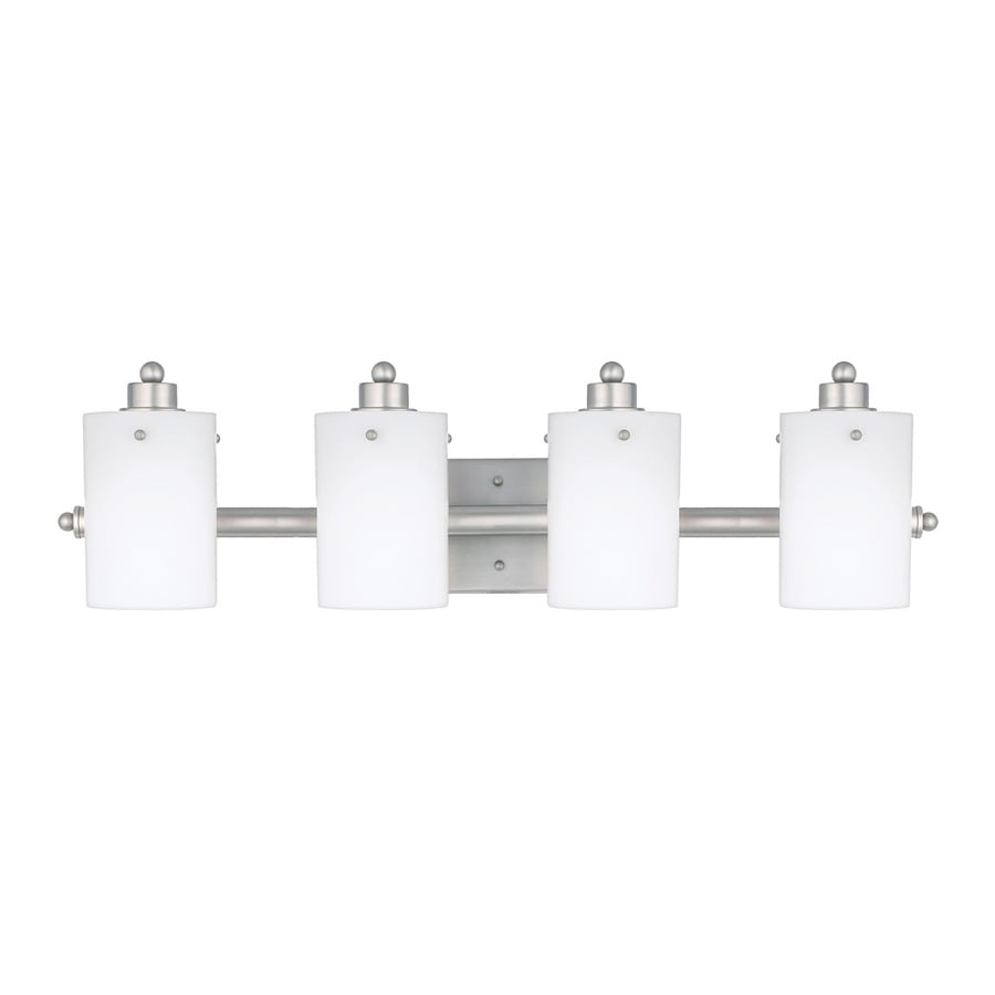 Cascadia Lighting Adano 4-Light 7.5-in Empire Silver Cylinder Vanity Light
