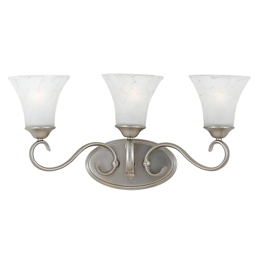 Cascadia Lighting Duchess 3-Light 11-in Antique nickel Bell Vanity Light