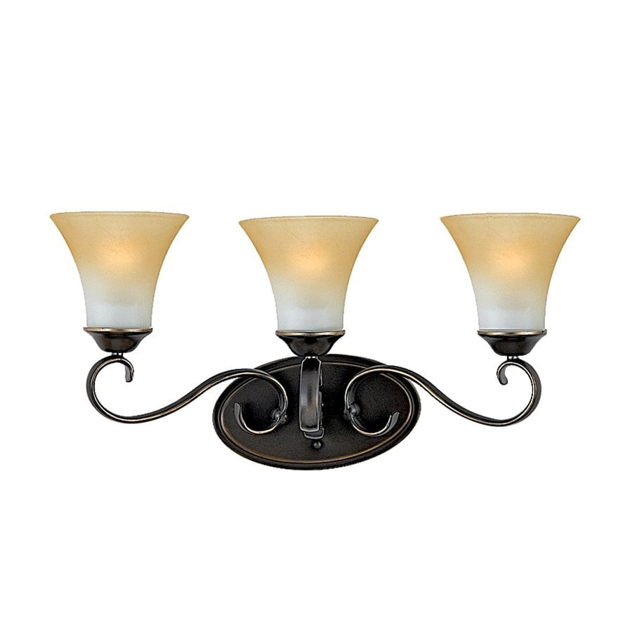 Cascadia Lighting Duchess 3-Light 11-in Palladian bronze Bell Vanity Light