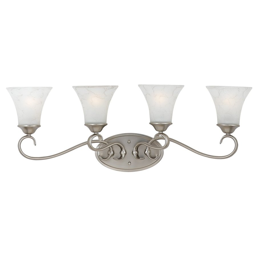 Cascadia Lighting Duchess 4-Light Antique Nickel Bell Vanity Light