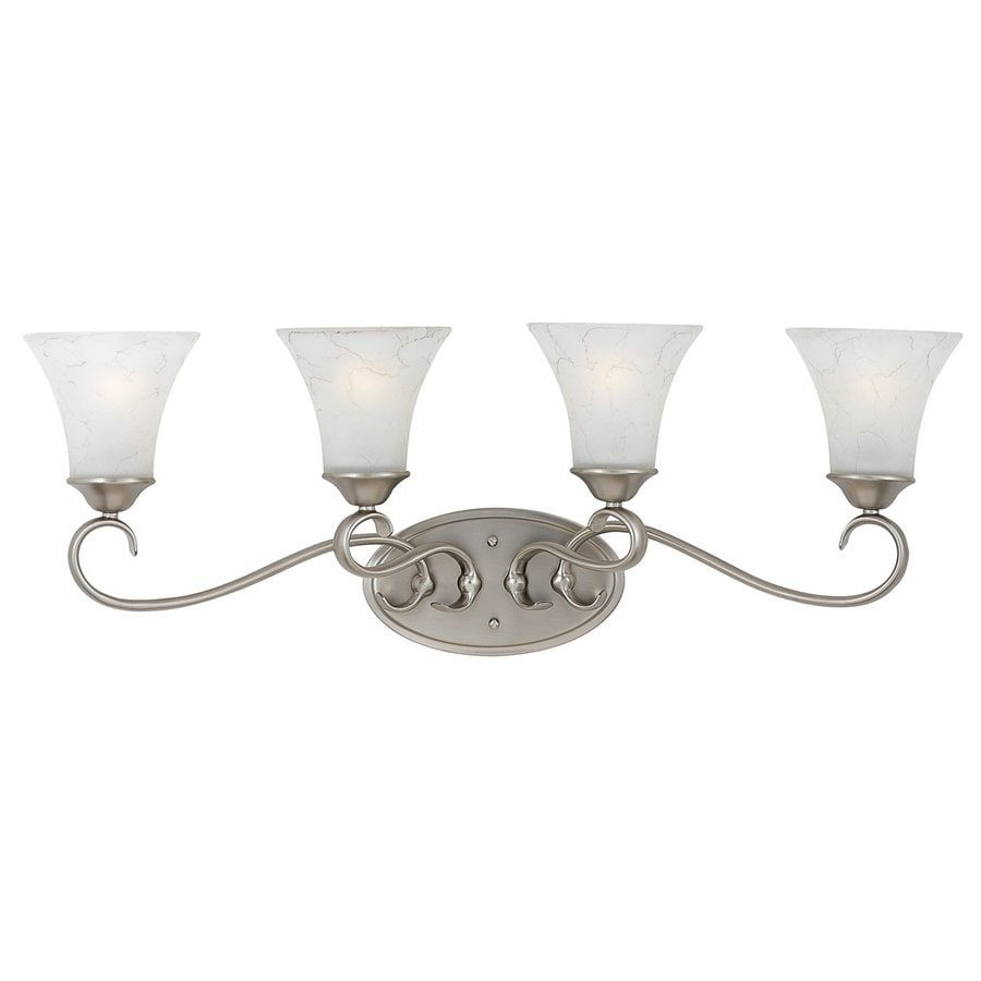 Cascadia Lighting Duchess 4-Light 11-in Antique Nickel Bell Vanity Light