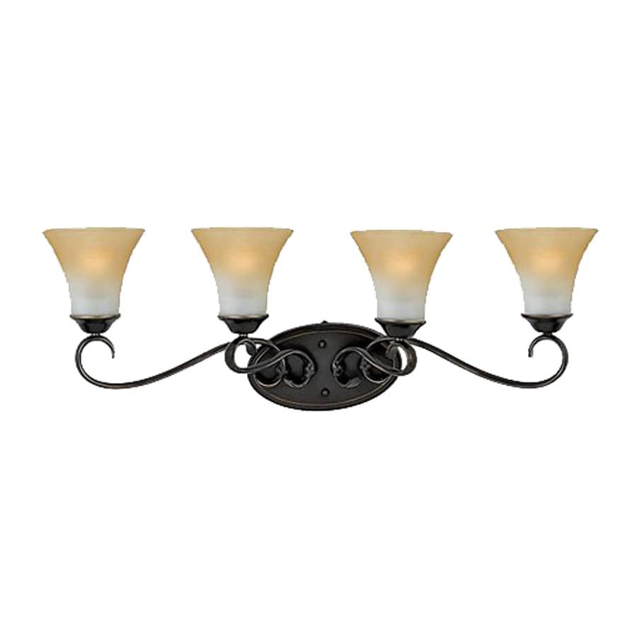 Cascadia Lighting Duchess 4-Light 11-in Palladian bronze Bell Vanity Light