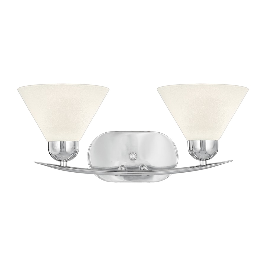Cascadia Lighting Demitri 2-Light 8-in Polished Chrome Cone Vanity Light