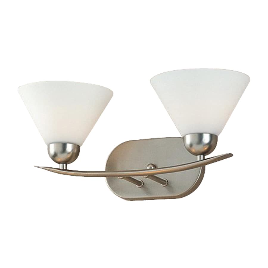 Cascadia Lighting Demitri 2-Light Empire Silver Cone Vanity Light