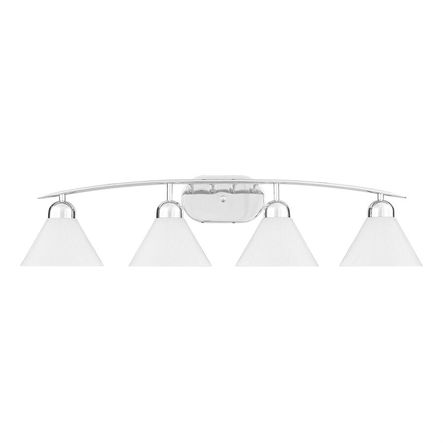 Cascadia Lighting Demitri 4-Light 8.5-in Polished Chrome Cone Vanity Light