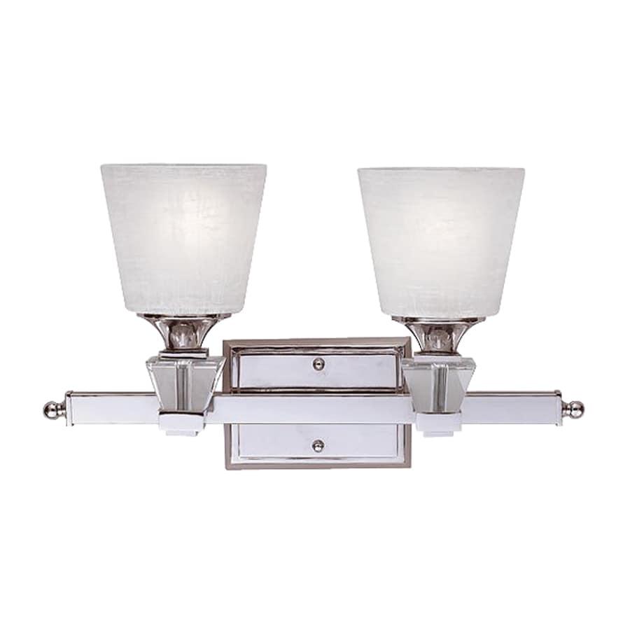 Cascadia Lighting Deluxe 2-Light 10-in Polished chrome Cylinder Vanity Light