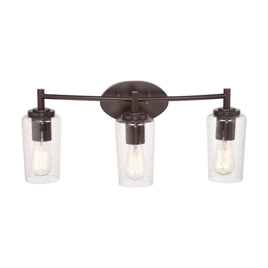 lighting edison 3 light 10 in western bronze jar vanity light at lowes. Black Bedroom Furniture Sets. Home Design Ideas