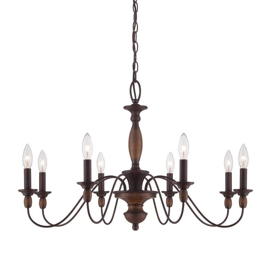 Cascadia Lighting Holbrook 8 Light Tarnished Bronze Traditional Candle Chandelier