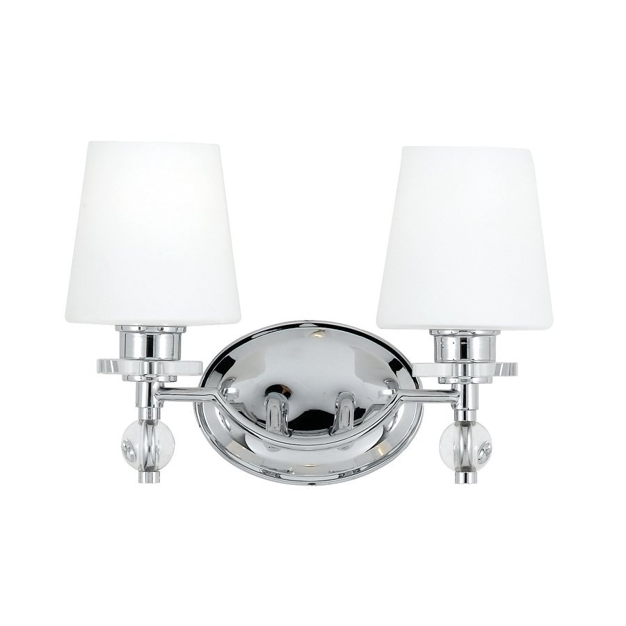 Shop Cascadia Lighting Hollister 2 Light 9 4 In Polished Chrome Vanity Light At