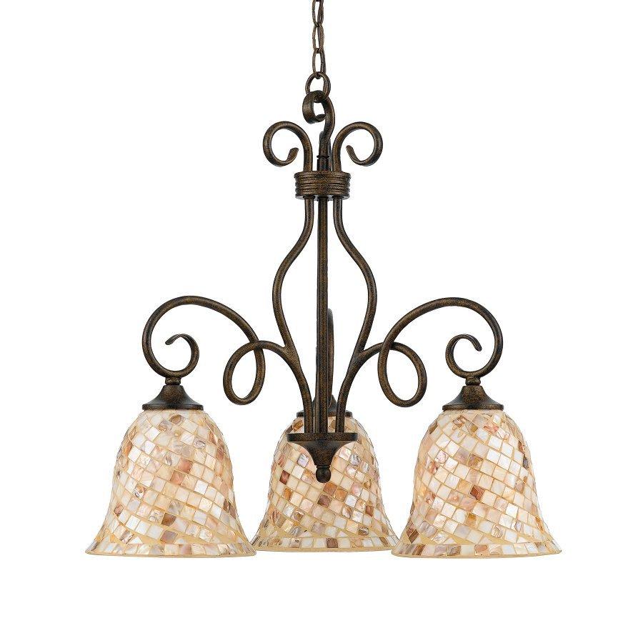 Cascadia Lighting Avenant 3 Light Kitchen Chandelier: Cascadia Lighting Monterey Mosaic 3-Light Old Bronze