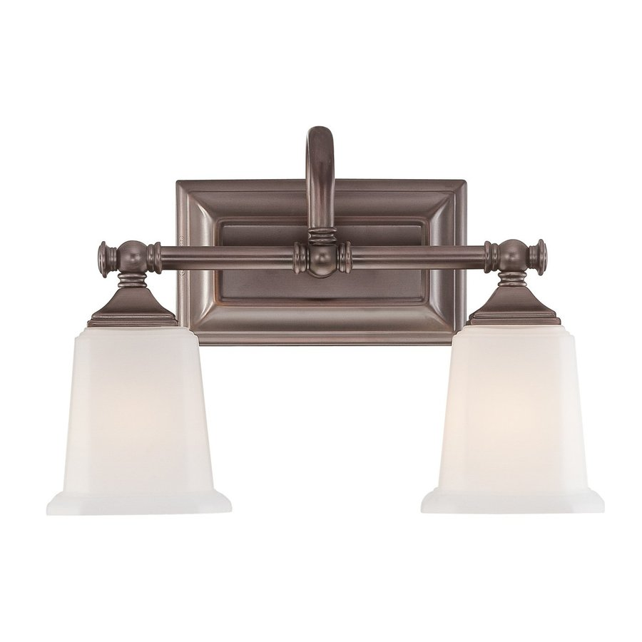 Cascadia Lighting Nicholas 2-Light 10-in Harbor Bronze Square Vanity Light