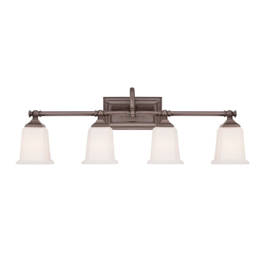 Cascadia Lighting Nicholas 4-Light 10-in Harbor Bronze Square Vanity Light