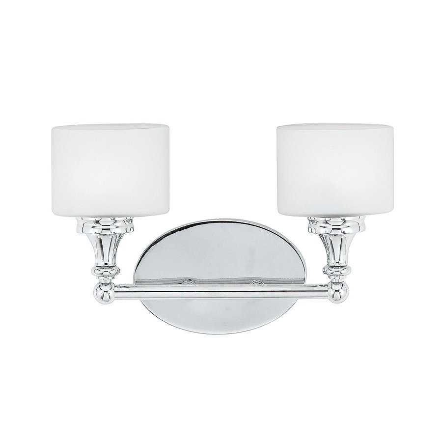 Cascadia Lighting Quinton 2-Light Polished Chrome Oval Vanity Light