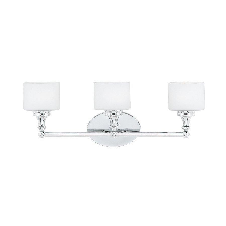 Cascadia Lighting Quinton 3-Light 9-in Polished chrome Oval Vanity Light