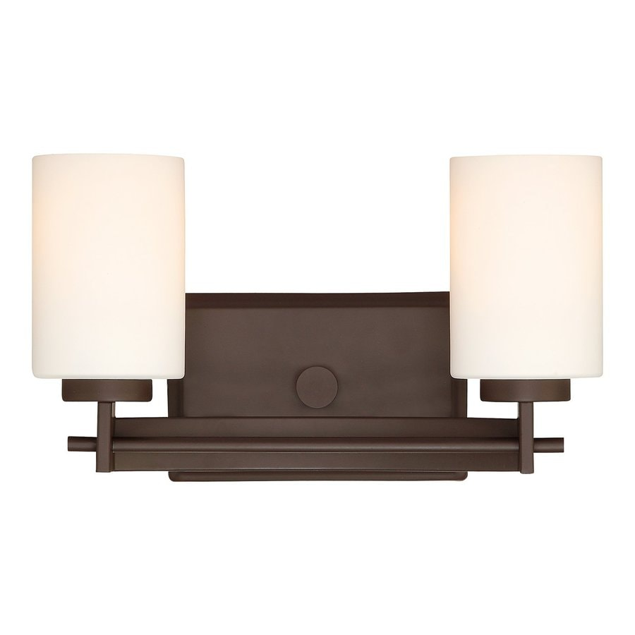 Cascadia Lighting Taylor 2-Light 7.5-in Western bronze Cylinder Vanity Light