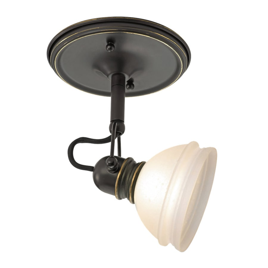 Ambiance by Sea Gull Trenton 3.43-in W Antique Bronze Tea-Stained Glass Semi-Flush Mount Light