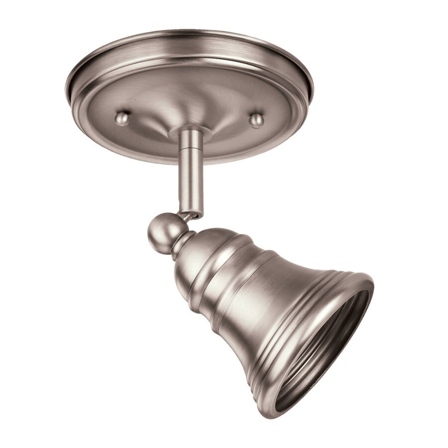Ambiance by Sea Gull 3.5-in W Antique Brushed Nickel Metal Semi-Flush Mount Light