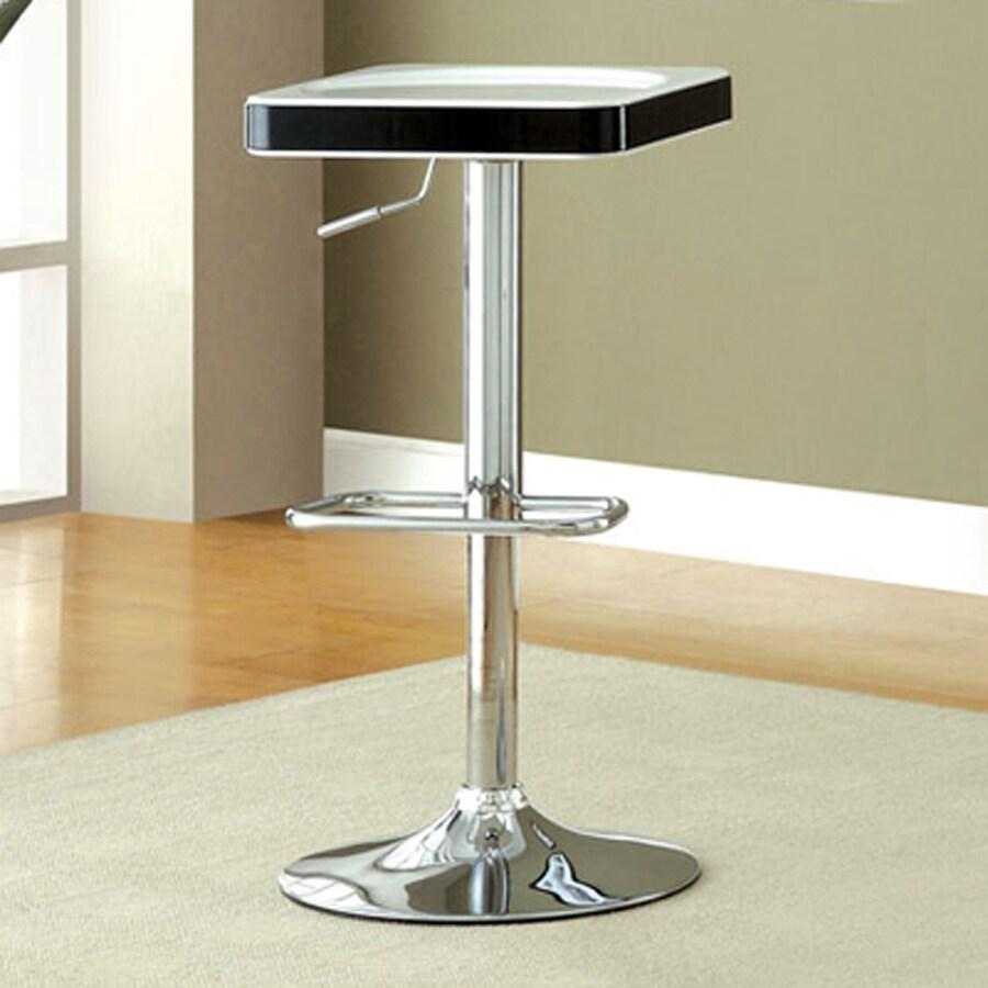 Furniture of America Set of 2 Veria White/Black 32.38-in Adjustable Stools