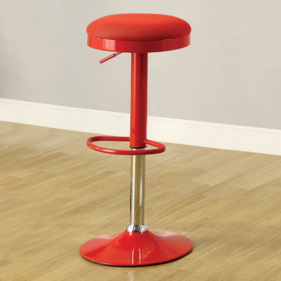 Furniture of America Set of 2 Pefki Red 33-in Adjustable Stools