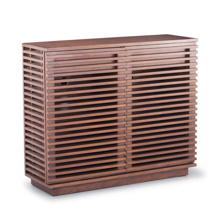 Zuo Modern Linea Walnut Rectangular Television Cabinet