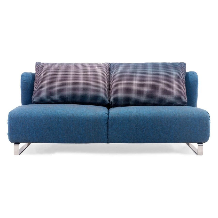 zuo modern conic cowboy blue polyblend sofa bed at lowes com rh lowes com Flexsteel Sofas Catnapper Sofa