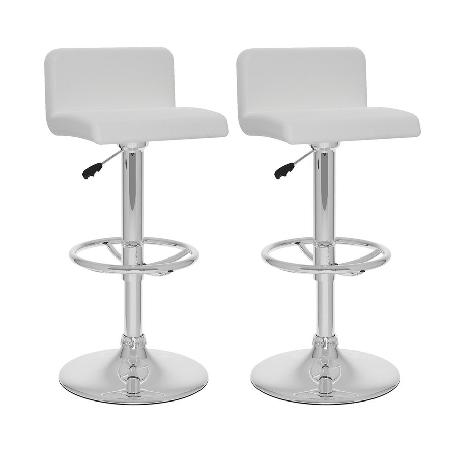 CorLiving White/Chrome Adjustable Stool
