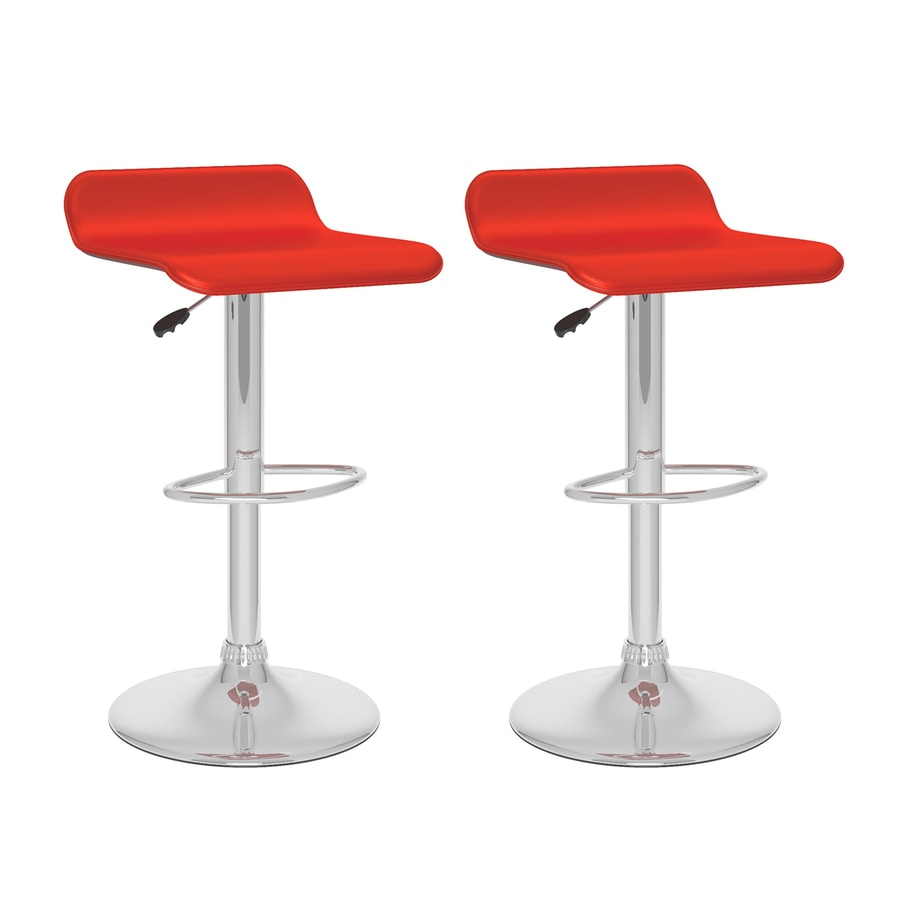 Sonax Set of 2 Red 30.75-in Adjustable Stools