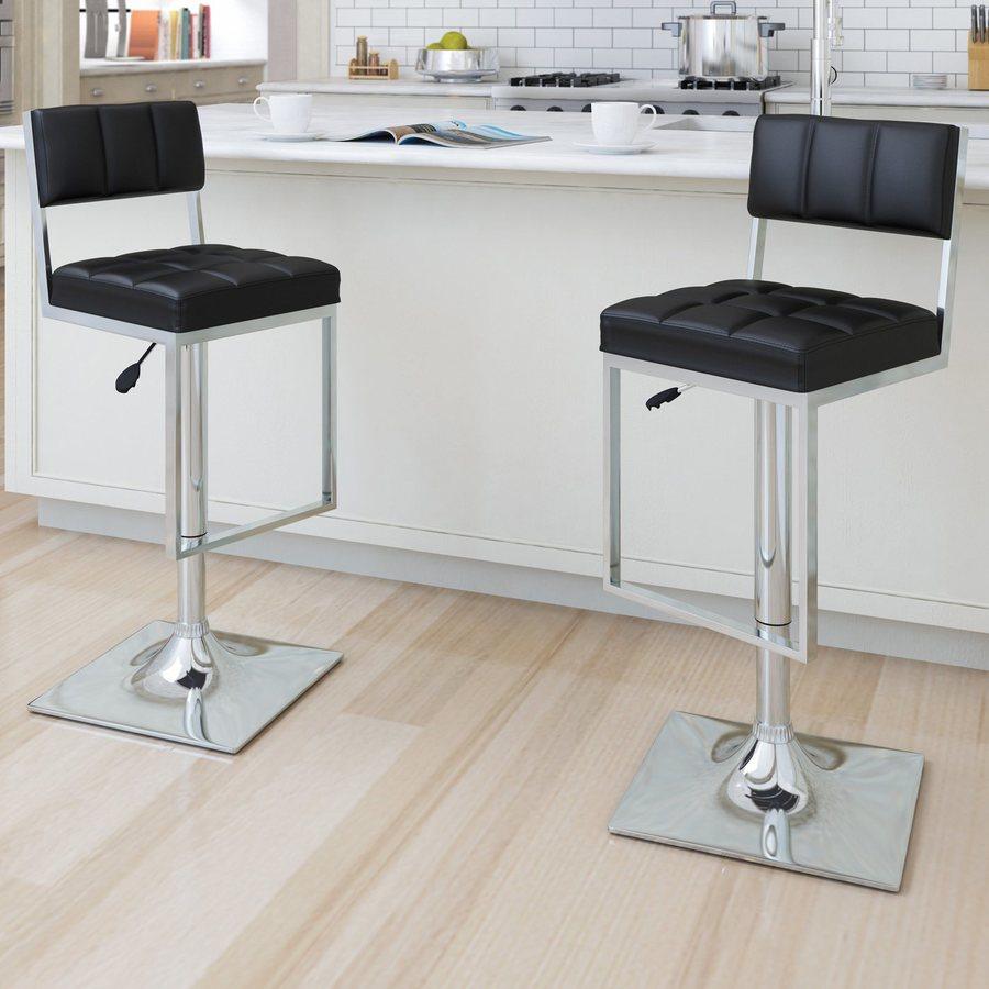 CorLiving Set of 2 Black 35-in Adjustable Stools