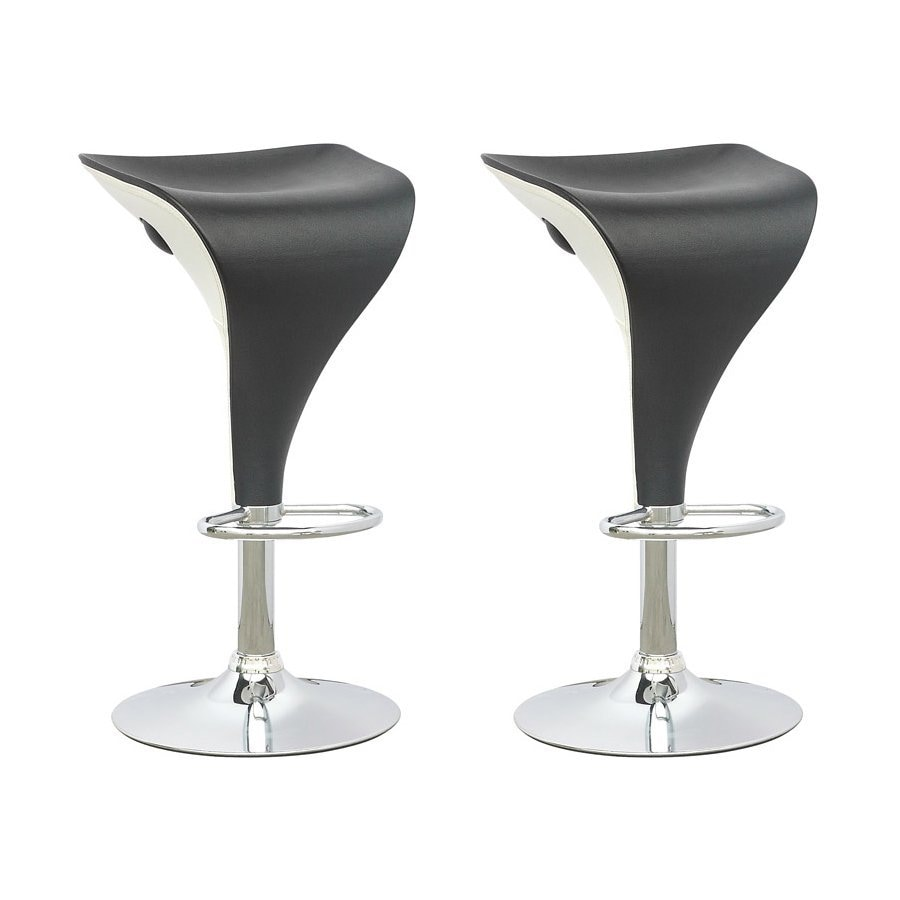 CorLiving Set of 2 Black 26.75-in Adjustable Stools