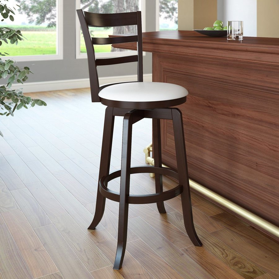 CorLiving Corliving Woodgrove Cream 29-in Bar Stool