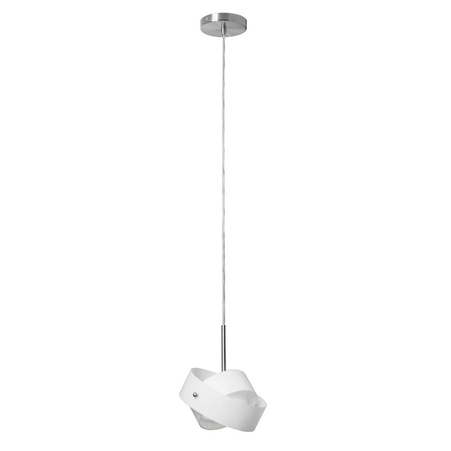 Shop dainolite lighting 7 in satin chrome mini orb pendant for Dainolite 7 light floor lamp