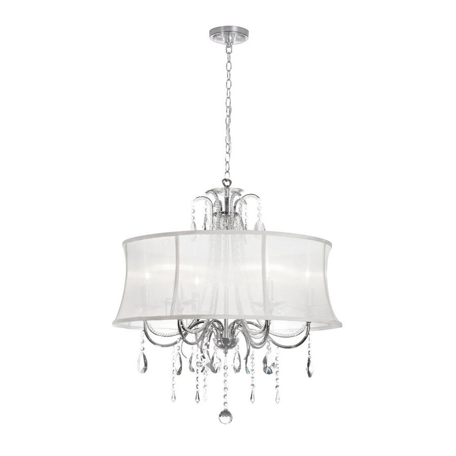 Dainolite Lighting Ella 27-in 6-Light Polished Chrome Drum Chandelier