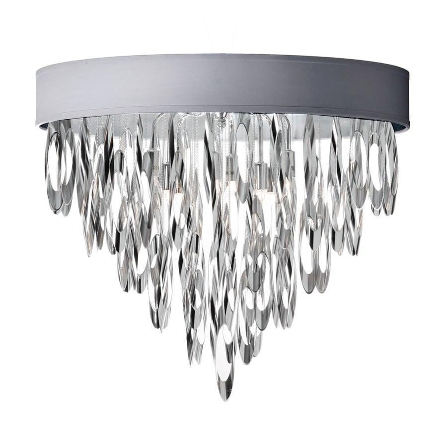 Dainolite Lighting Allegro 16-in W Polished Chrome Flush Mount Light
