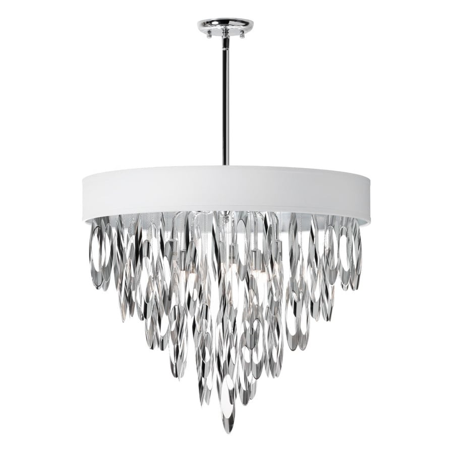 Dainolite Lighting Allegro 24-in 8-Light Polished chrome Waterfall Chandelier