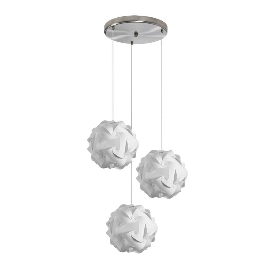Dainolite Lighting Globus 9-in Satin Chrome Multi-Light Globe Pendant