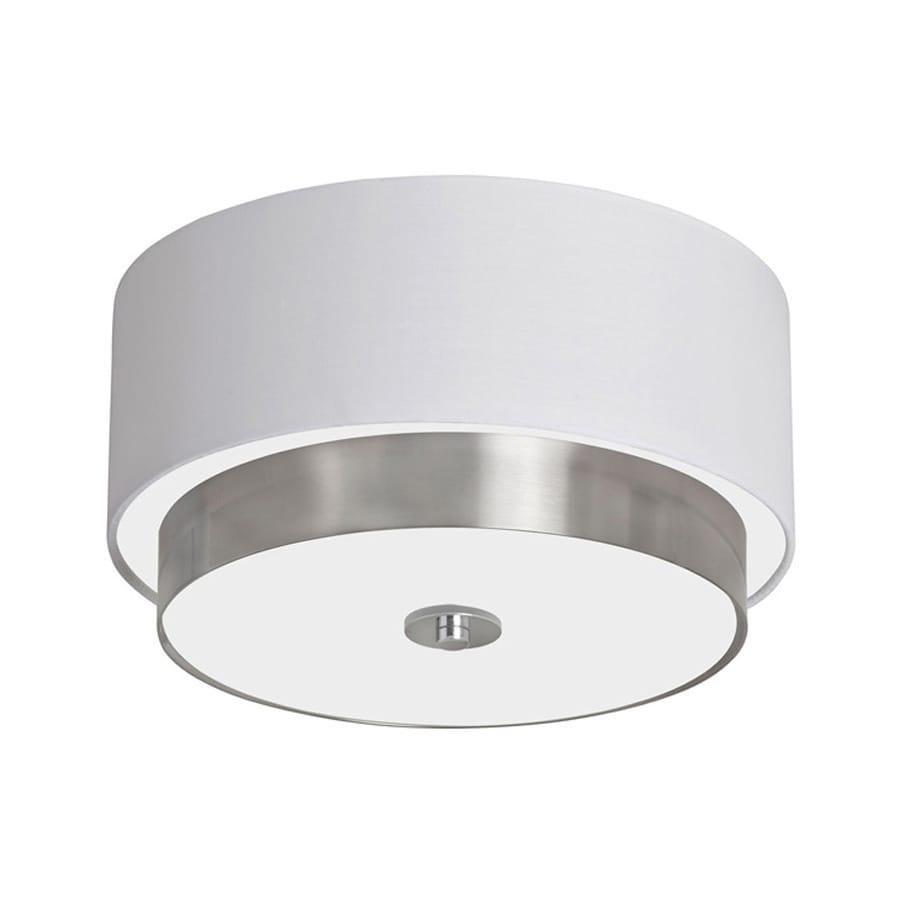 Dainolite Lighting Larkin 14-in W Satin chrome Flush Mount Light