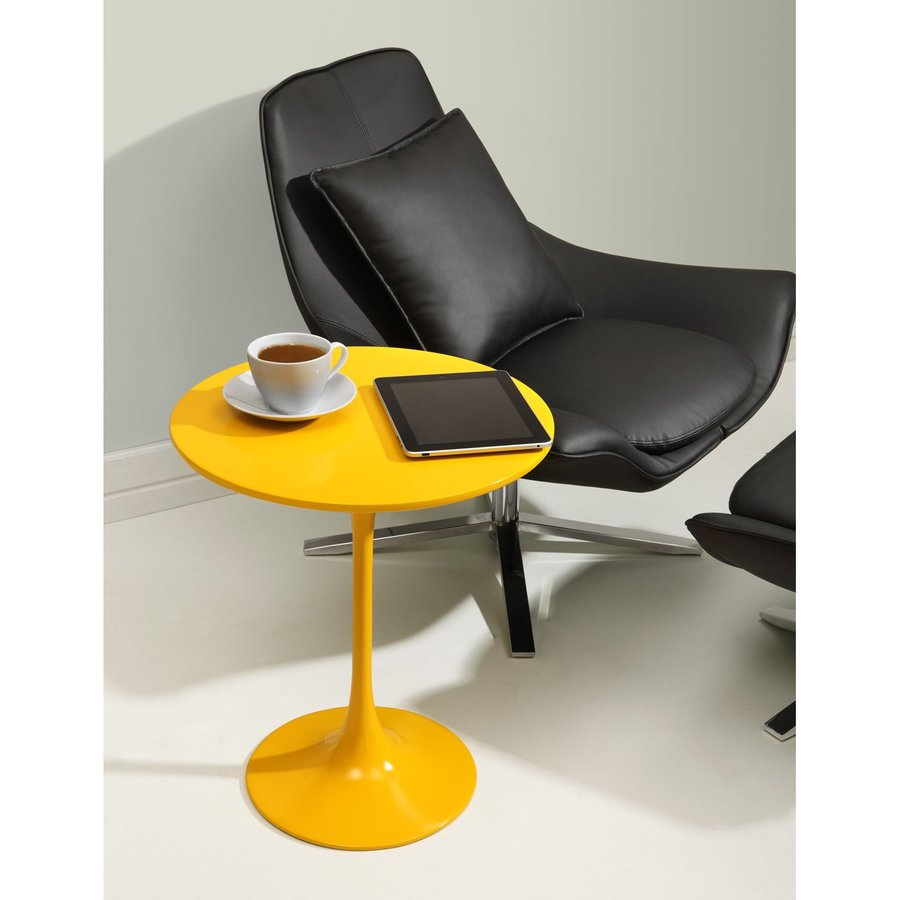 Zuo Modern Wilco Yellow Round End Table