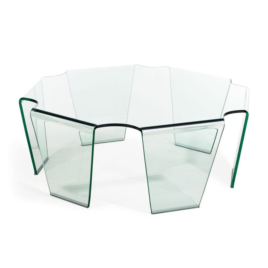 Zuo Modern Circuit Clear (Tempered Glass) Coffee Table