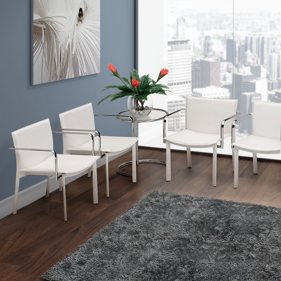 Zuo Modern 2-Piece Gekko White Reception Chair