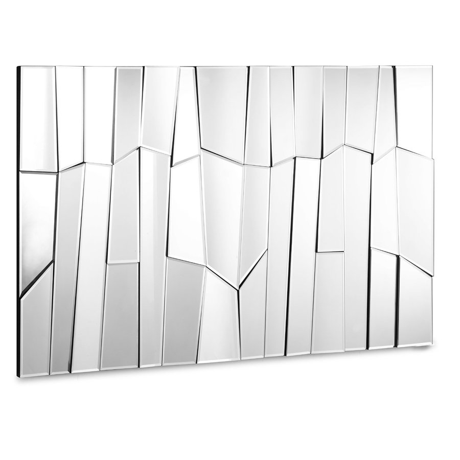 Zuo Modern Glacier 47-in x 31.5-in Silver Polished Rectangle Frameless Wall Mirror
