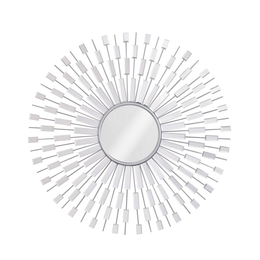 Zuo Modern Myan Silver Polished Round Wall Mirror
