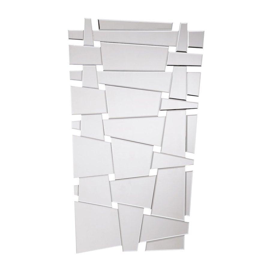 Zuo Modern Obtruse Silver Polished Frameless Wall Mirror